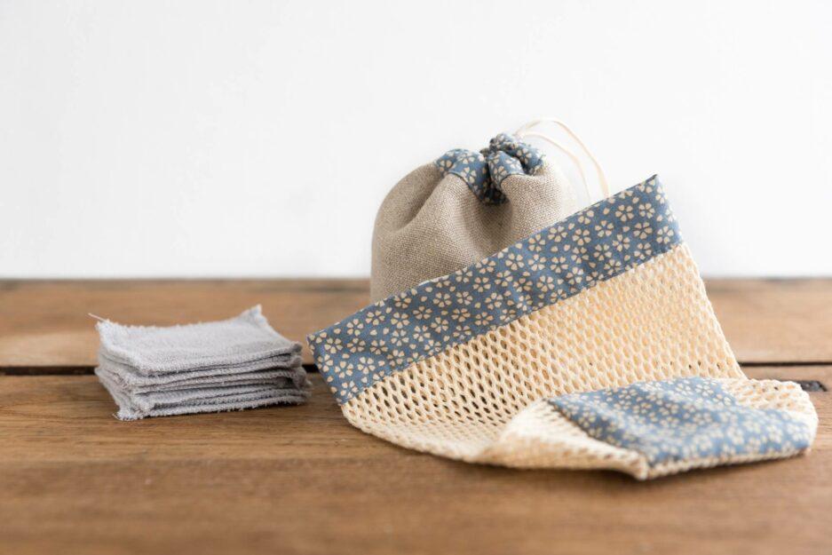 Kit cotons démaquillants lavables - Myosotis © ManaMani